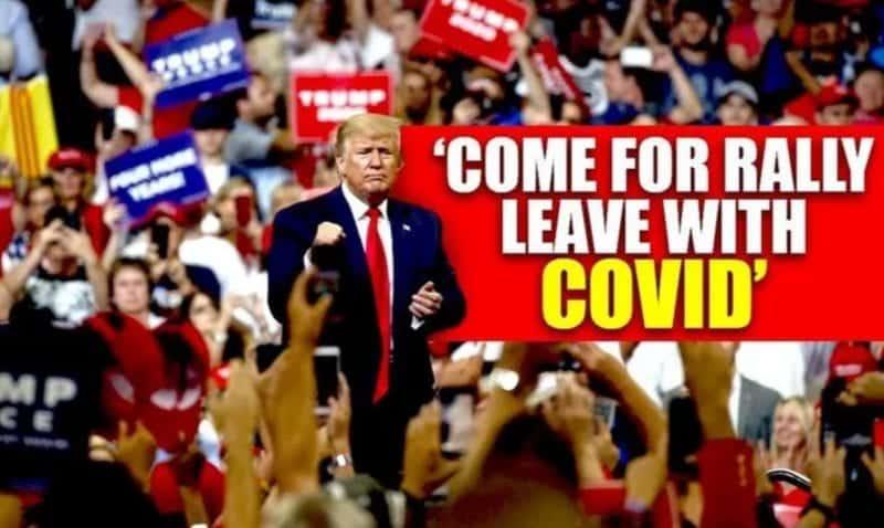 trump rally covid