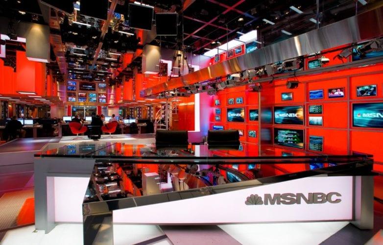 msnbc news set