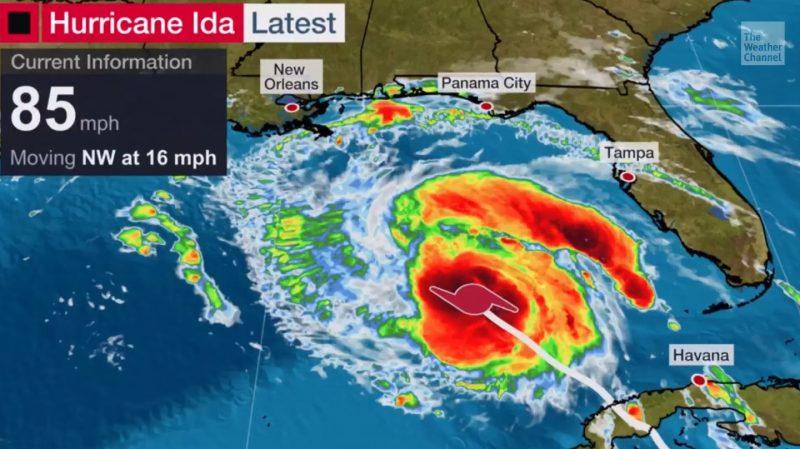 Weather Channel Hurricane IDA
